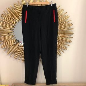 Alexander Wang Black Joggers Red Accent
